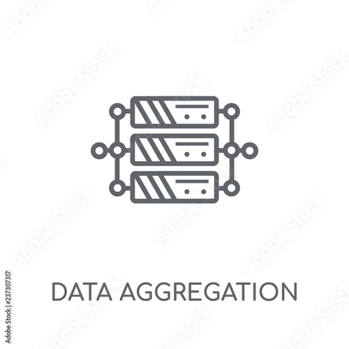 data aggregation linear icon Canvas Print
