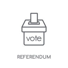 Referendum Linear Icon. Modern...