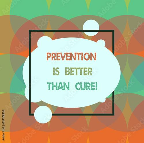 Fotografie, Obraz  Conceptual hand writing showing Prevention Is Better Than Cure