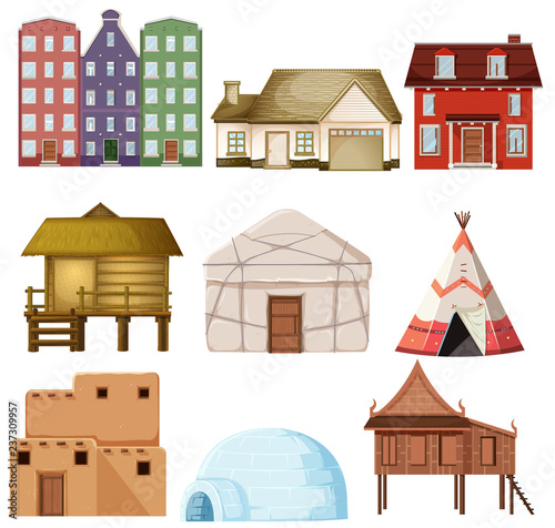 Cuadros en Lienzo Set of different house style