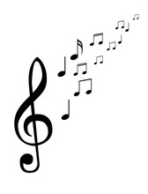 Music Notes, Musical Design Element, Isolated. Vector Illustration EPS10