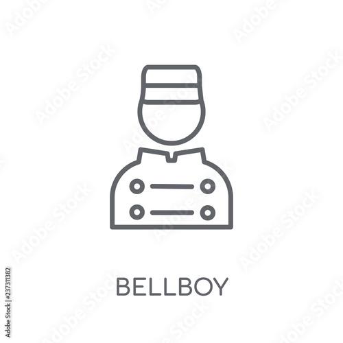 Fotografie, Obraz  Bellboy linear icon