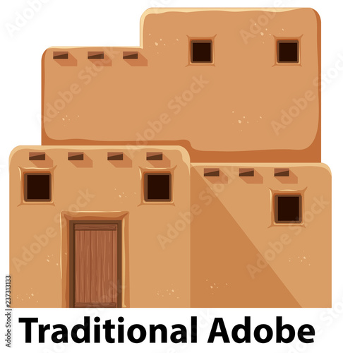 A traditional adobe house Wallpaper Mural