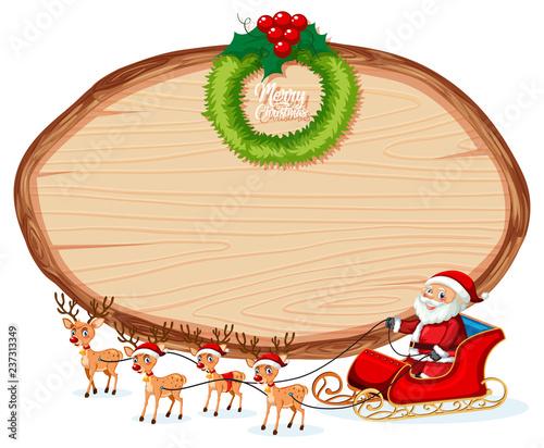 Staande foto Kids Wooden banner christmas theme