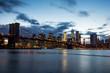 Manhattan Skyline at sunset. New York.