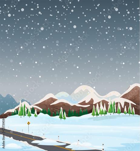 Staande foto Kids A winter outdoor landscape