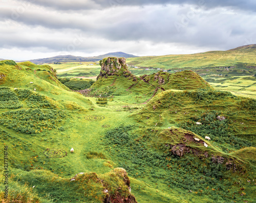 Famous mystic Fairy Glen, a green valley with romantic landscapes Wallpaper Mural