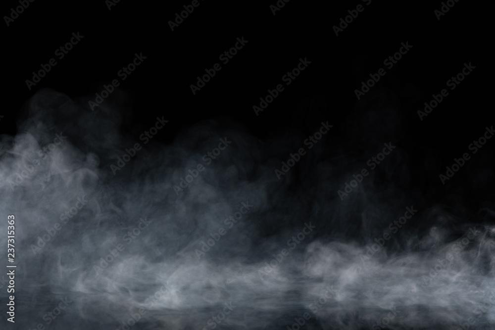 Fototapety, obrazy: Abstract Smoke on black Background