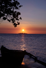 Beautiful Sunset In A Island