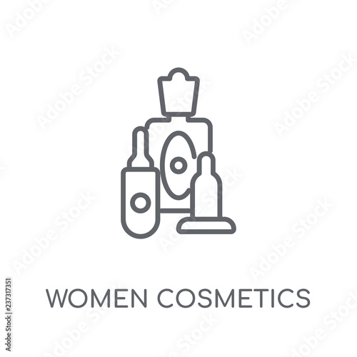 Fotografie, Obraz  Women Cosmetics linear icon