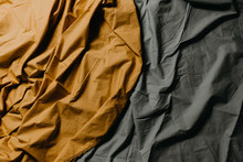 Wrinkled Ocher And Gray Cloth