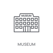 Museum Linear Icon. Modern Out...