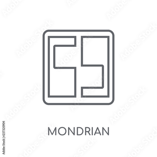 Photo  Mondrian linear icon