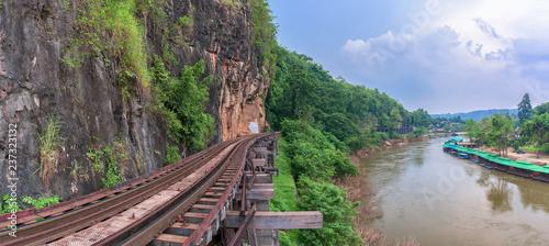 Death railway in river Kwai at Kanchanaburi, Thailand