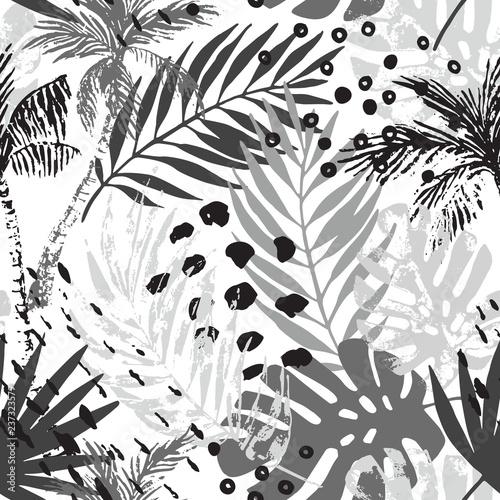 Fond de hotte en verre imprimé Empreintes Graphiques Hand drawn abstract tropical summer background