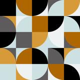 Streszczenie tło w stylu retro skandynawskim. Modna sztuka wektor - 237325944