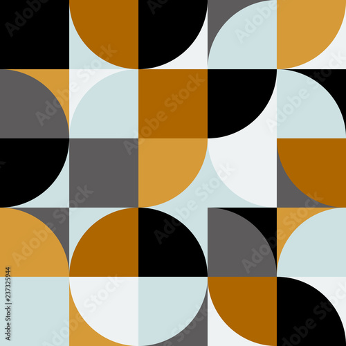 Abstract background in retro scandinavian style Canvas