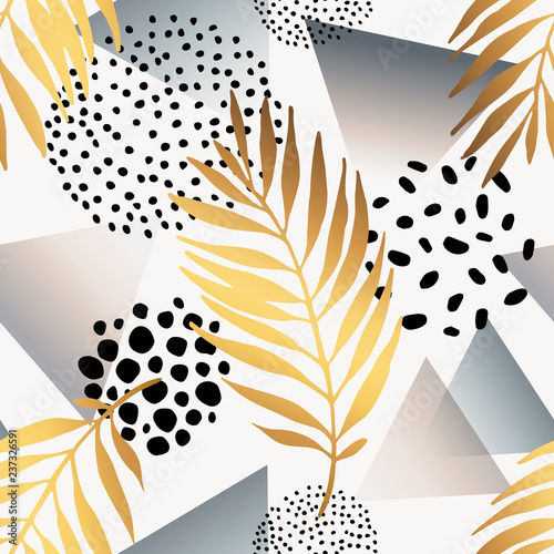 Fotobehang Grafische Prints Abstract summer seamless pattern.