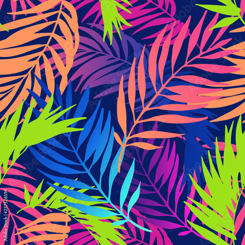 Poster de jardin Empreintes Graphiques Abstract colorful gradient summer seamless pattern.