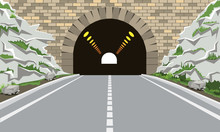 Tunnel And Highway With Flat A...