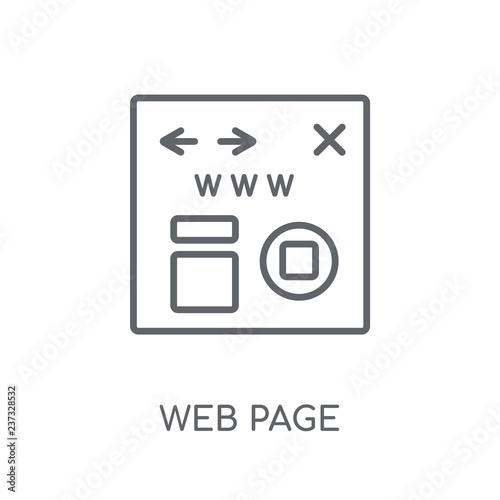 Fotografie, Obraz  Web page linear icon