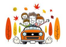 家族で秋のドライブ