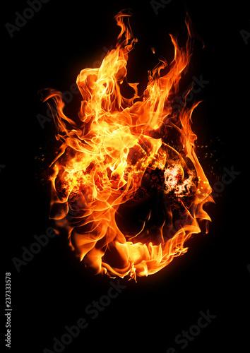 火の玉 Fototapeta