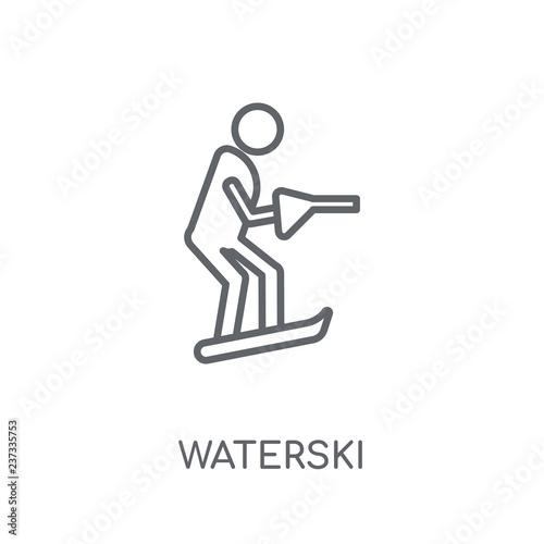 Fotografie, Obraz  waterski linear icon