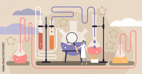 Fotografia  Chemistry vector illustration