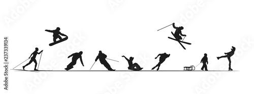 Tablou Canvas Frise sports d'hiver