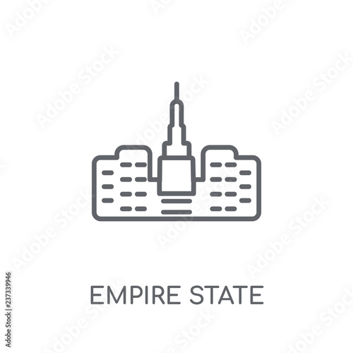 Photo  Empire state building linear icon
