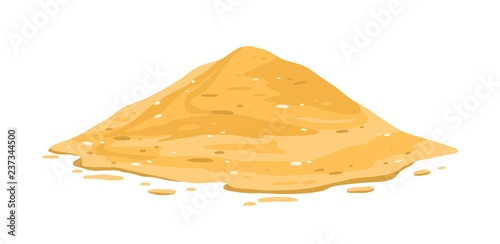 Photo  Heap of sand isolated on white background