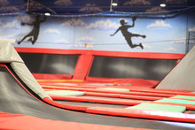Red Trampoline Trampoline,trampoline Jumping