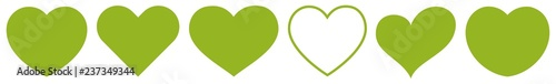 Heart Green | Eco | Nature | Love | Logo | Variations - 237349344