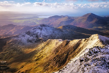 Snowdon Is The Highest Mountain In Wales, At An Elevation Of 1,085 Metres, Uk.