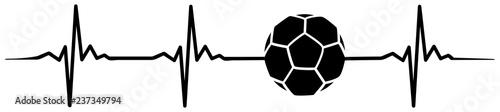 football soccer heartbeat #isoliert #vektor - Fußball Herzschlag Obraz na płótnie