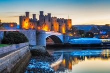 Conwy Castle In Wales, Uk.