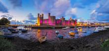 Panorama Of  Caernarfon Castle...