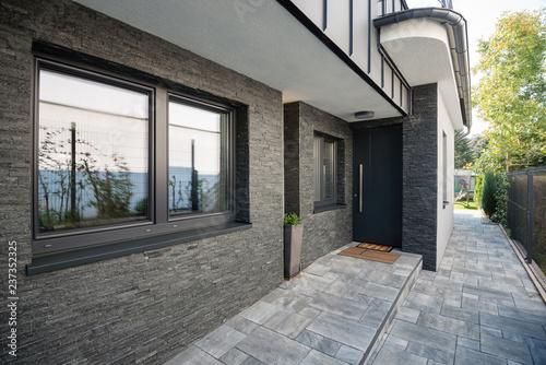 Fotografie, Obraz  Entrance door into modern house