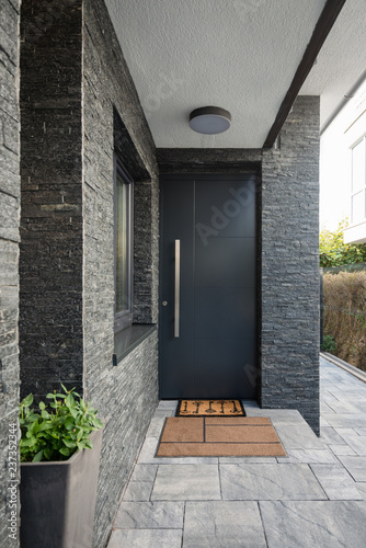 Fotografia Entrance door into modern house