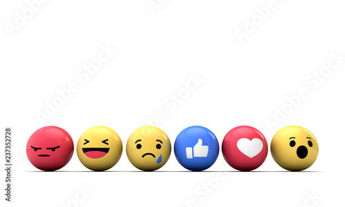 Photo  Emoji emoticon character background collection. 3D Rendering