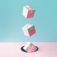 Pastel Pink Christmas Gift Box...