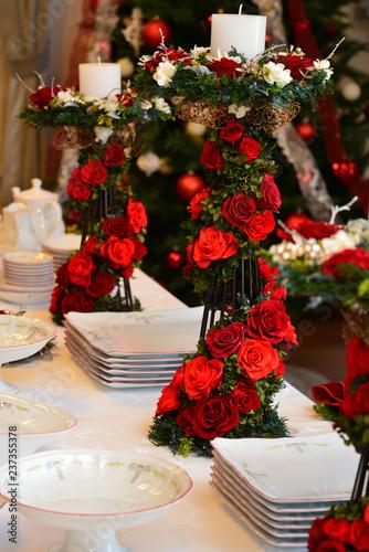 christmas food and ornaments