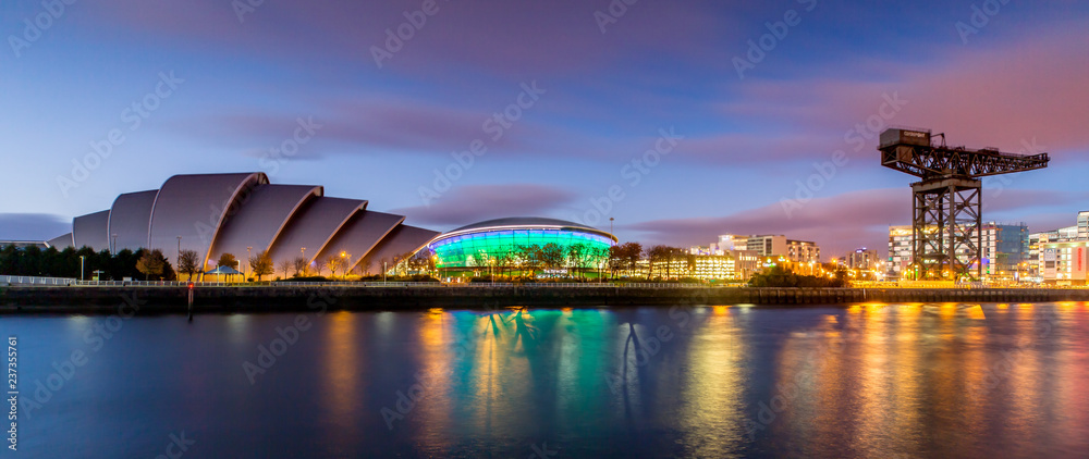 Fototapety, obrazy: The Armadillo and the SSE Hydro in Panoramic View