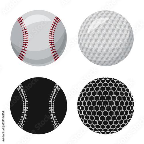 Valokuva  Vector design of sport and ball symbol