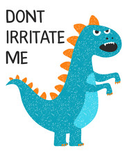 Grumpy Dino T-shirt Design For...