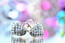 Pair Of Heart Shaped Earring D...