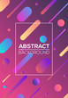 Modern futuristic abstract dynamic geometric cover