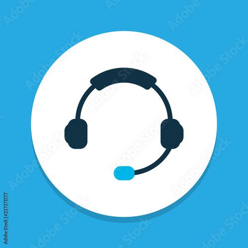 Fotografía  Headphone icon colored symbol