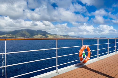 Fotografía Ring life buoy on a deck of cruise ship